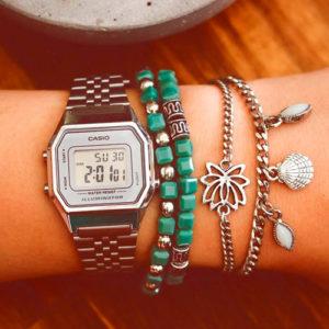 Relojes Casio plateados