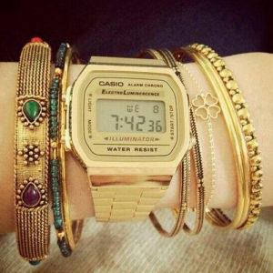 Relojes Casio dorados